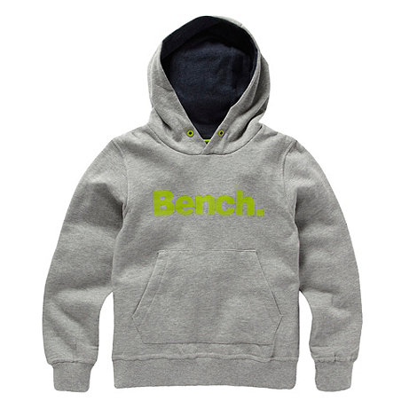 Bench - Boy+s grey logo hoodie