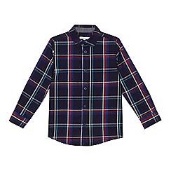 bluezoo - Boys' navy checked shirt