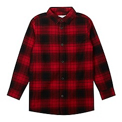 bluezoo - Boys' red checked longline shirt