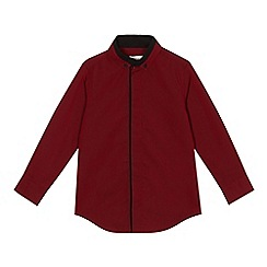 bluezoo - Boys' red contrasting centre trim shirt