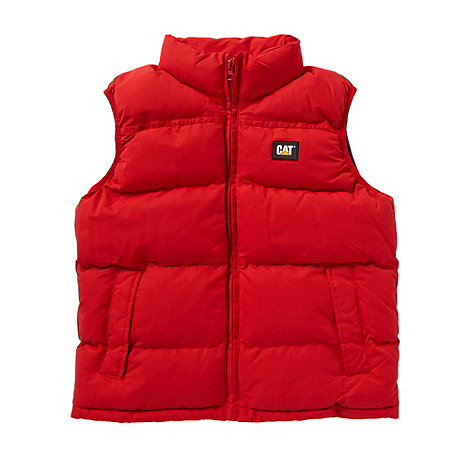Caterpillar - Boy+s red padded gilet