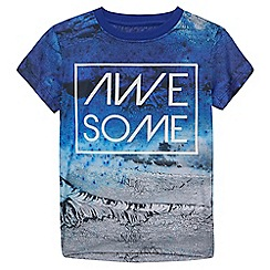 bluezoo - Boys' blue 'Awesome' t-shirt