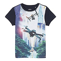 bluezoo - Boys' multi-coloured drone print t-shirt