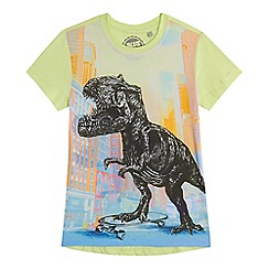 bluezoo - Boys' multi-coloured dinosaur print t-shirt