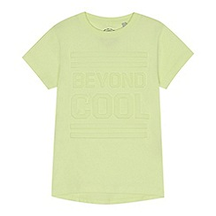 bluezoo - Boys' yellow embossed 'Beyond Cool' t-shirt