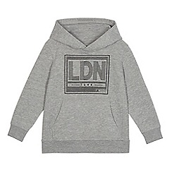 bluezoo - Boys' grey 'London' print hoodie