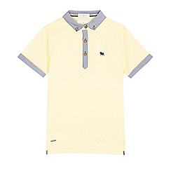 J by Jasper Conran - Boys' yellow striped polo shirt