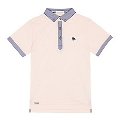 J by Jasper Conran - Boys' pink striped polo shirt