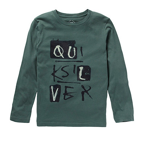Quiksilver - Boy+s olive logo long sleeve t-shirt