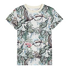 Mantaray - Boys' multi-coloured tropical print t-shirt