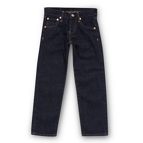 Levi's - Boy's dark blue 501 straight leg jeans