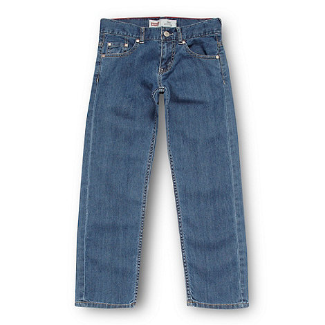 Levi+s - Boy+s dark blue 504 regular fit jeans