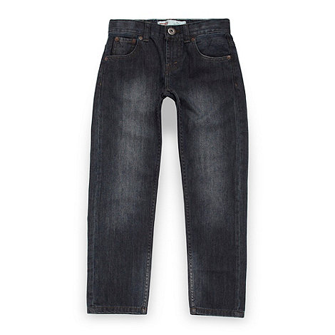 Levi+s - Boy+s navy 504 straight leg jeans