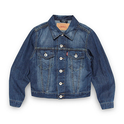 Levi+s - Boy+s dark blue denim jacket