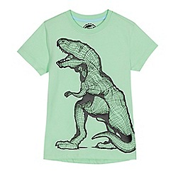 bluezoo - Boys' green graphic dinosaur print t-shirt
