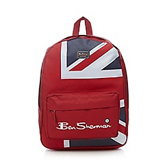 Ben Sherman - Red Union Jack print backpack