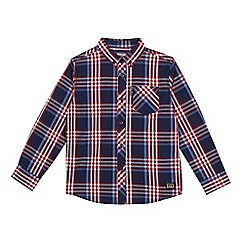 Ben Sherman - Boys' navy and red checked shirt