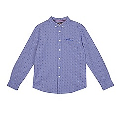 Ben Sherman - Boys' blue gingham textured shirt