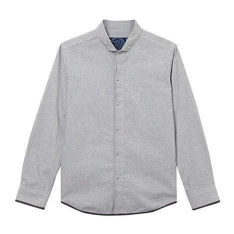 bluezoo - Boy+s grey dobby striped shirt