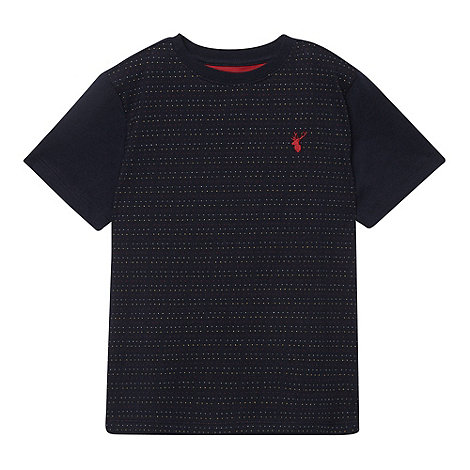 bluezoo - Boy+s blue embroidered striped tee