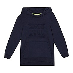 bluezoo - Boys' navy 3D 'Beyond cool' slogan hoodie