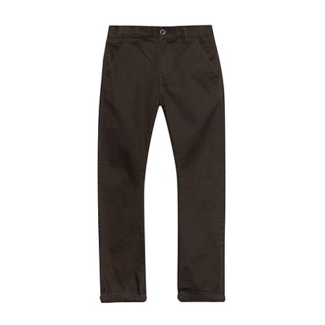 bluezoo - Boy+s dark grey plain chinos