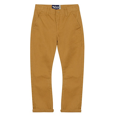 bluezoo - Boy's taupe roll cuff chinos