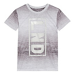 bluezoo - Boys' grey 'LND' print t-shirt