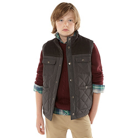 bluezoo - Boy+s grey quilted gilet