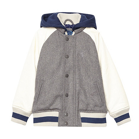 bluezoo - Boy+s grey baseball jacket