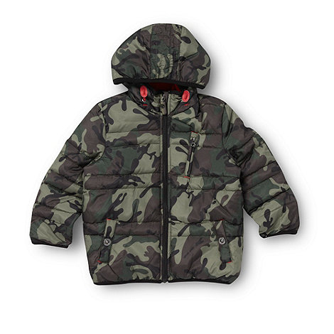 bluezoo - Boy+s green camo padded jacket