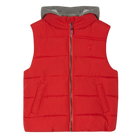 bluezoo - Boy+s red hooded gilet