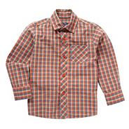 Boy's red checked shirt