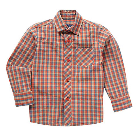 bluezoo - Boy+s red checked shirt