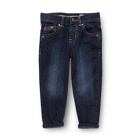 bluezoo - Boy+s dark blue carrot leg jeans