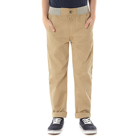 bluezoo - Boy+s sand ribbed waist chinos