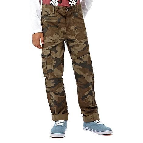 bluezoo - Boy+s khaki cargo trousers