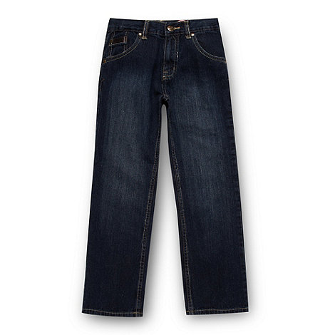 bluezoo - Boy+s dark blue straight leg jeans