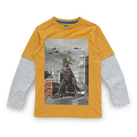 bluezoo - Boy+s yellow dinosaur top