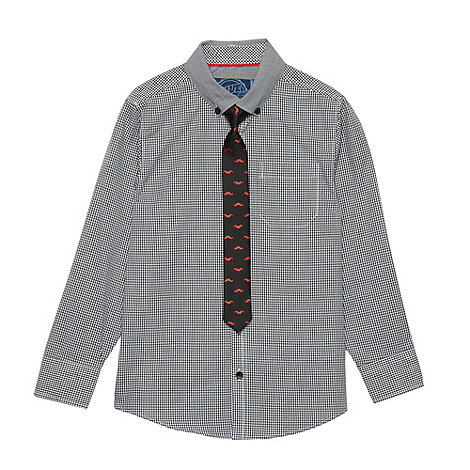 bluezoo - Boy+s grey shirt and tie set