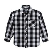 Boy's grey large checked shirt