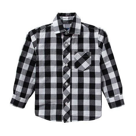 bluezoo - Boy's grey large checked shirt