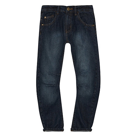 bluezoo - Boy+s dark blue twisted leg jeans