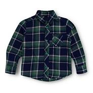 Boy's blue checked shirt