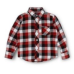 bluezoo - Boy's black twill checked shirt