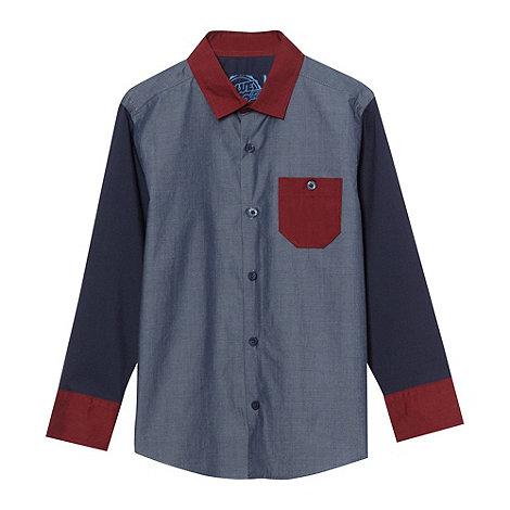 bluezoo - Boy+s navy mix match shirt