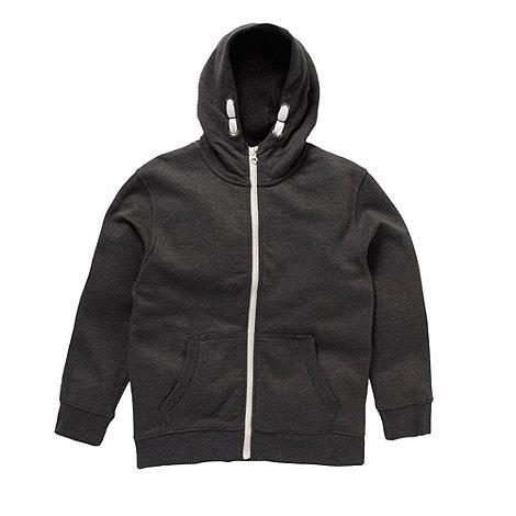 bluezoo - Boy+s grey zip hoodie