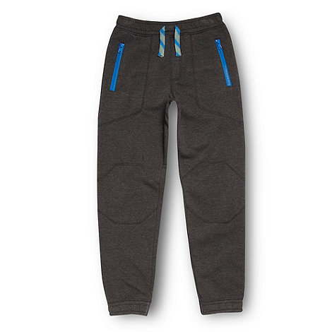 bluezoo - Boy+s dark grey zip pocket jogging bottoms