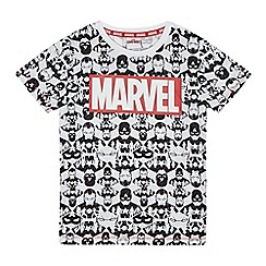 Marvel - Boys' white 'Marvel' print t-shirt