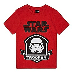 Star Wars - Boys' red 'Star Wars' print t-shirt